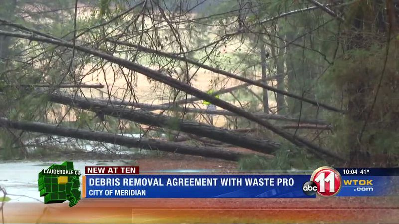 Debris removal picks up speed in Meridian