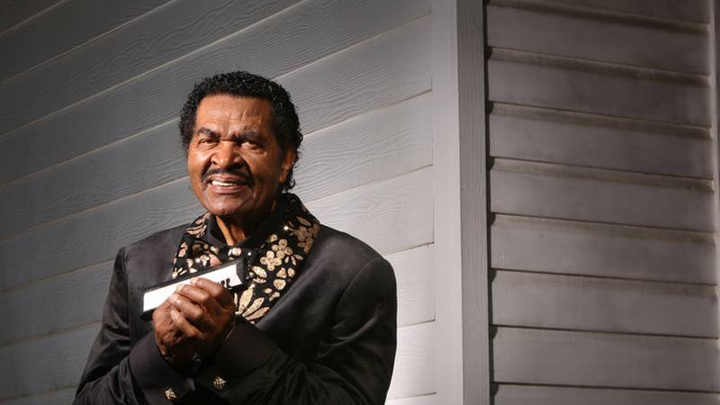 Blues legend Bobby Rush was at the Mississippi Arts and Entertainment Experience Wednesday to...