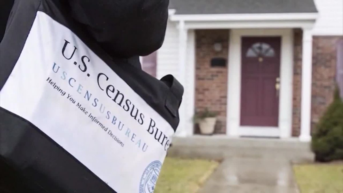 Census workers are going door to door because some people have not completed forms by mail,...