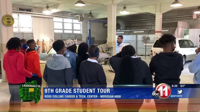 Meridian High School freshmen tour Ross Collins
