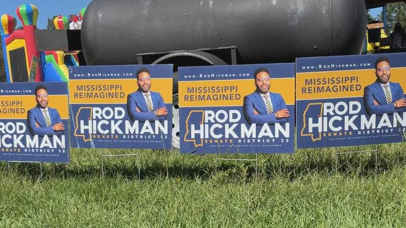 Candidate for District 32 Rod Hickman made a campaign stop at the Velma Young Center Saturday.