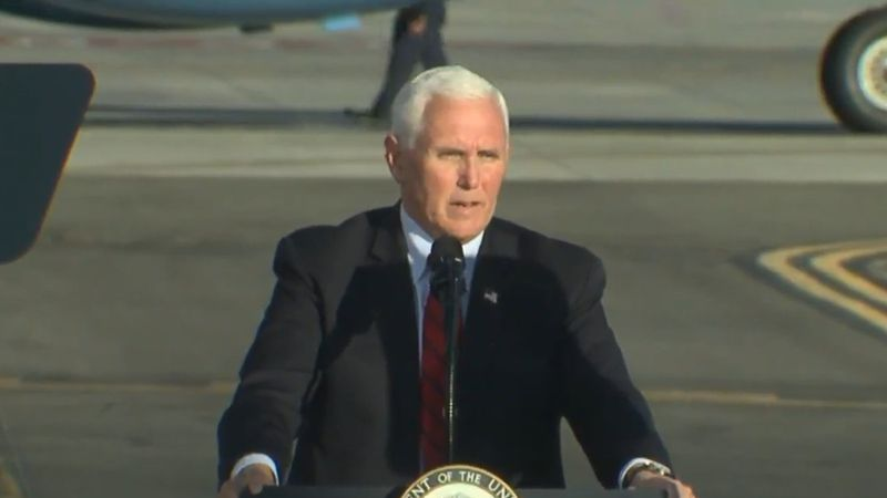 Vice President Mike Pence visits Georgia to bolster the campaigns of Senate Republicans David...
