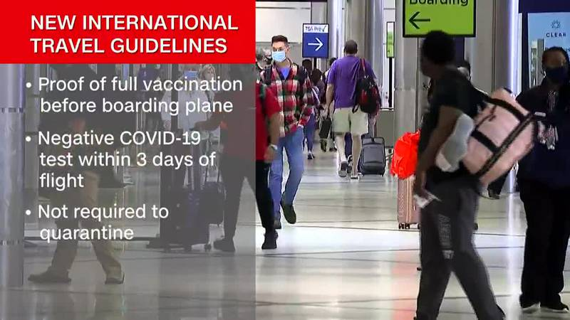 The United States plans to ease travel restrictions on fully vaccinated foreign visitors...