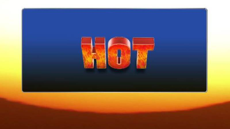 High temperatures near 100 degrees will combine with high humidity to yield heat index values...