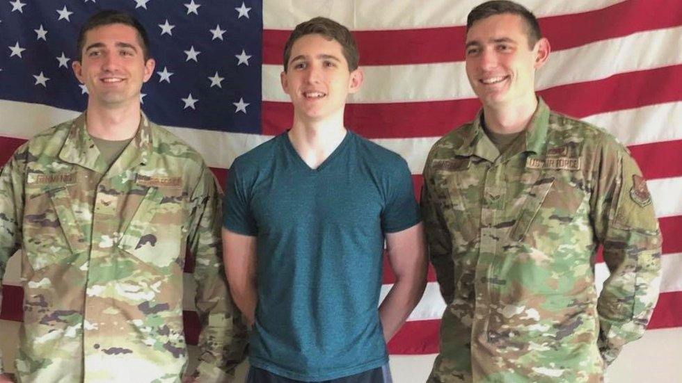 Germenis was following in the footsteps of his two older brothers by joining the Air Force.