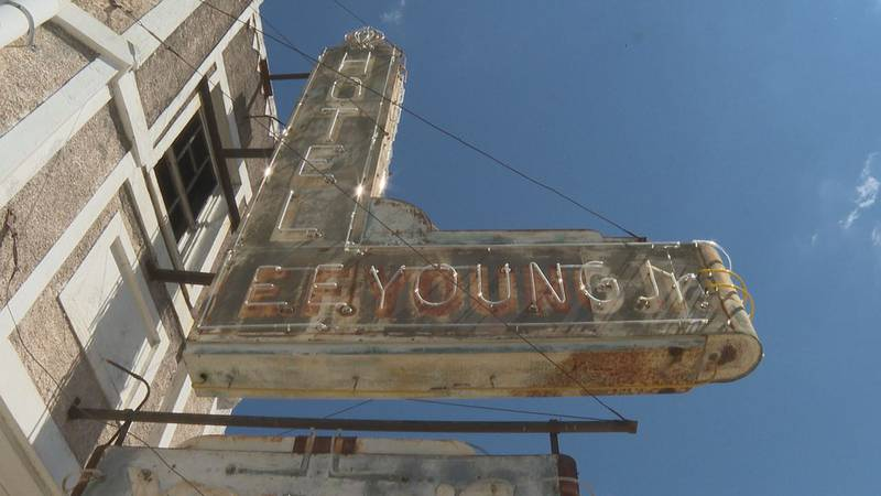 E.F. Young Hotel in downtown Meridian causes safety concern.