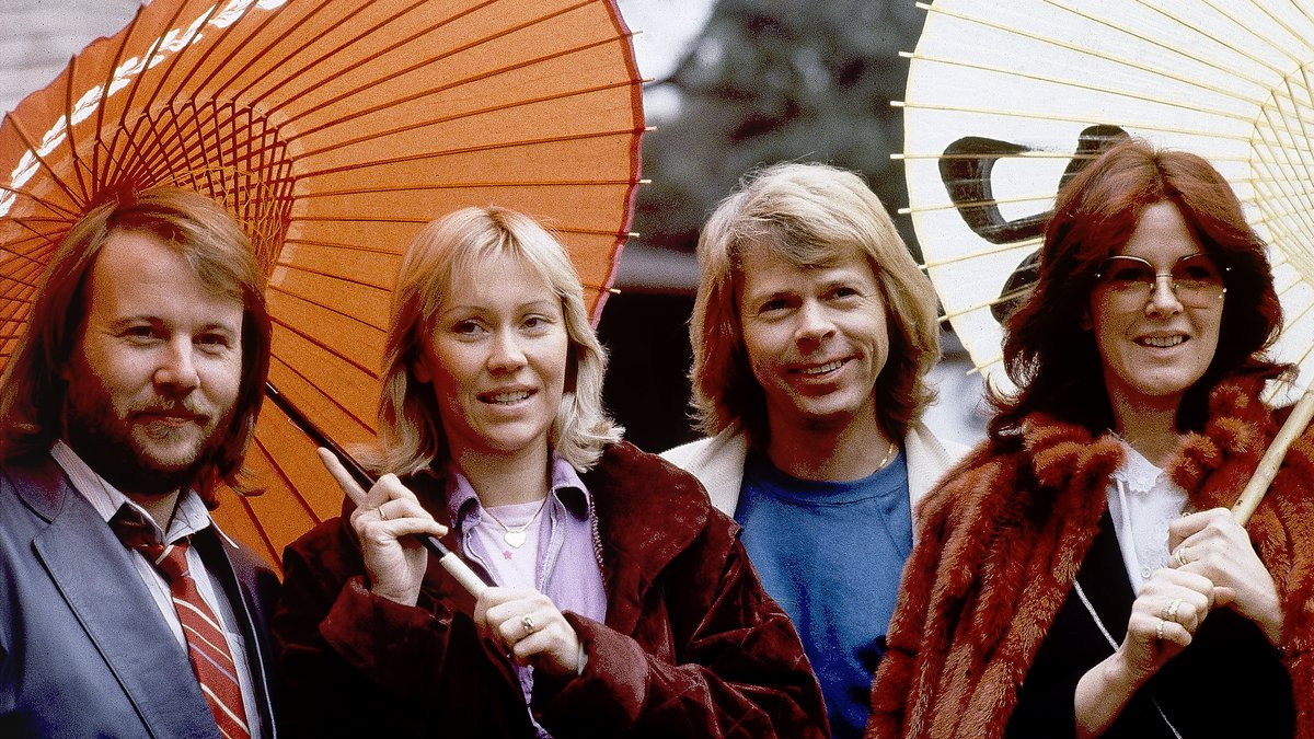 FILE - Members of the pop group ABBA, from left, Benny Andersson, Agnetha Foltskog, Bjorn...