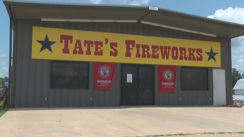Tate's Fireworks in Marion.