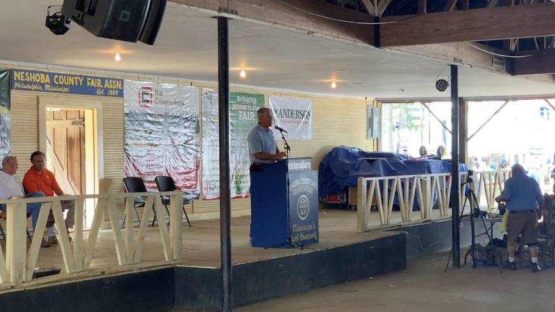 Three speakers gave their 10-minute stump speech Friday which is a yearly tradition at the fair.