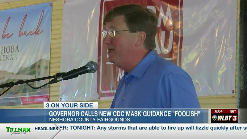 """Governor Reeves calls latest CDC guidance """"foolish"""" and 'harmful'"""