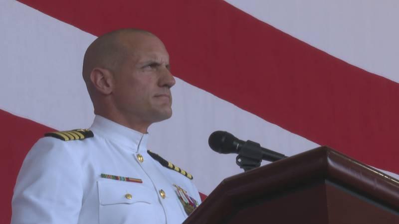 Commander Robert Lanane assumes command.