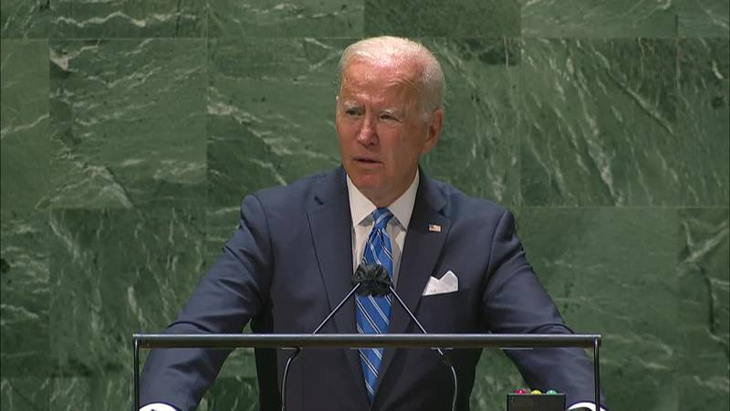 President Joe Biden delivered remarks at the United Nations on Tuesday, Sept. 21, 2021.