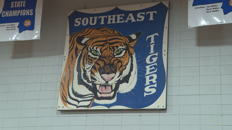 Southeast Lauderdale Tigers banner in gymnasium