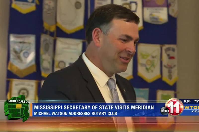 Mississippi Secretary of State visits Meridian