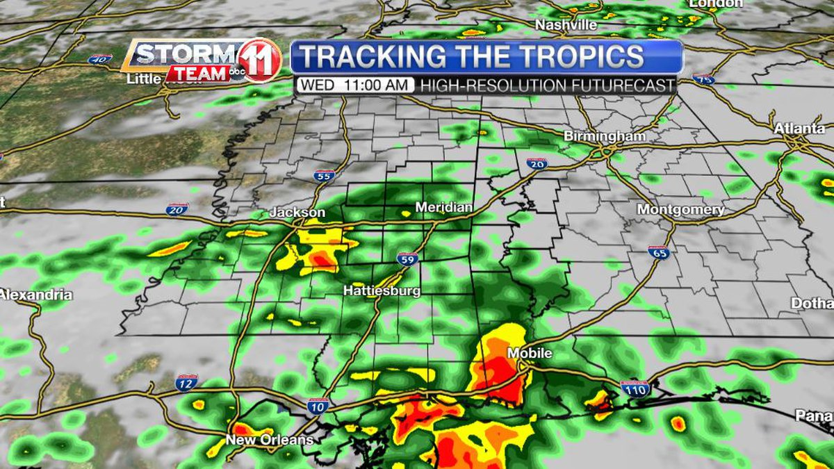 Tropical Storm Nicholas won't reach us, but it's close enough to send some rain our way.