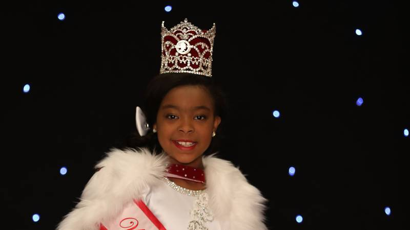 Belen Rae Altman, of Collinsville, won the World Our Little Miss Pageant.