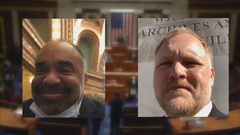 (Left) Rep. Charles Young Jr. Democrat District 82. (Right) Senator Tyler McCaughn Republican...