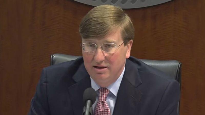 Gov. Reeves addresses the media