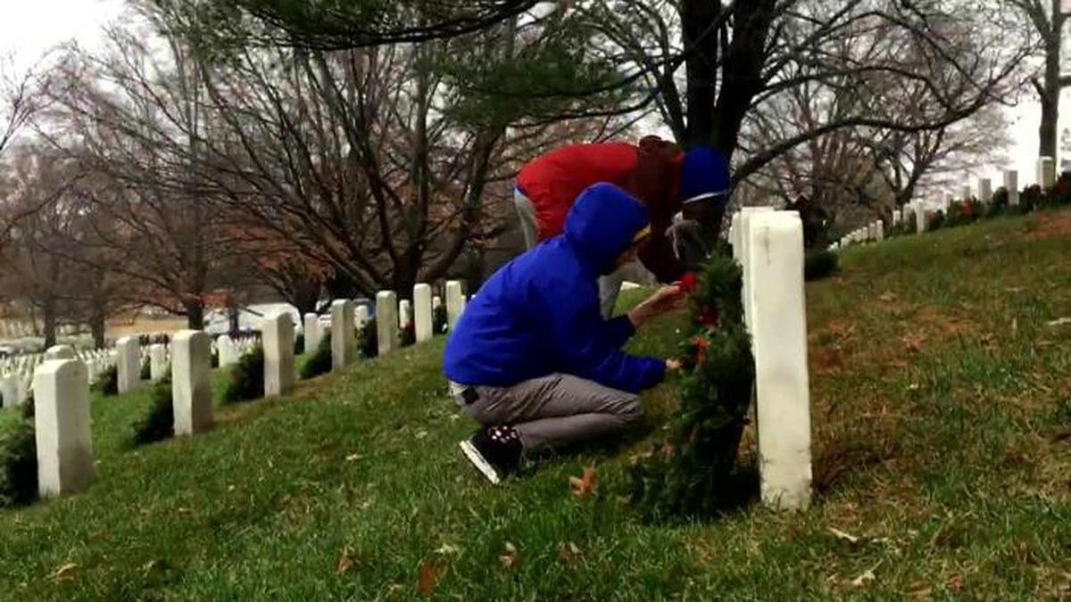 Despite the rain, thousands of volunteers continued this simple gesture as part of the commitment to making sure we never forget. (Source: WJLA/CNN)