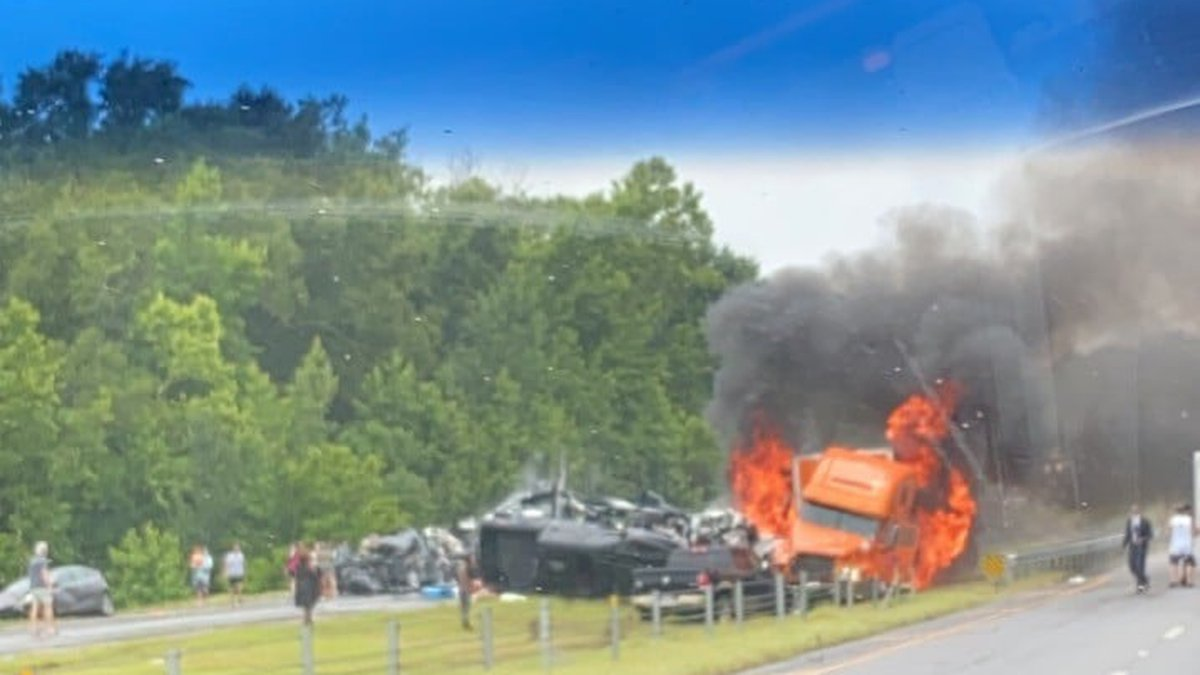 Federal investigators are on the scene of a fiery crash that left 10 people dead on Saturday,...