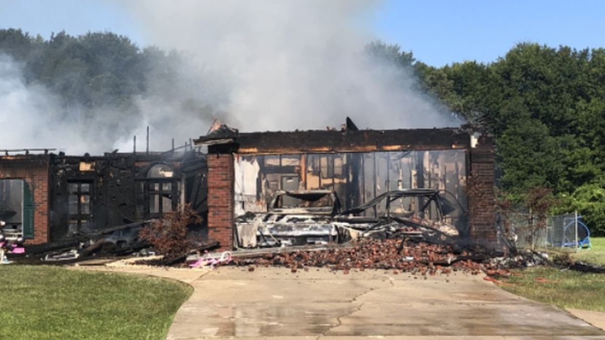 Jones County firefighters responded to the blaze at 733 Pecan Grove Road just before 9 a.m.