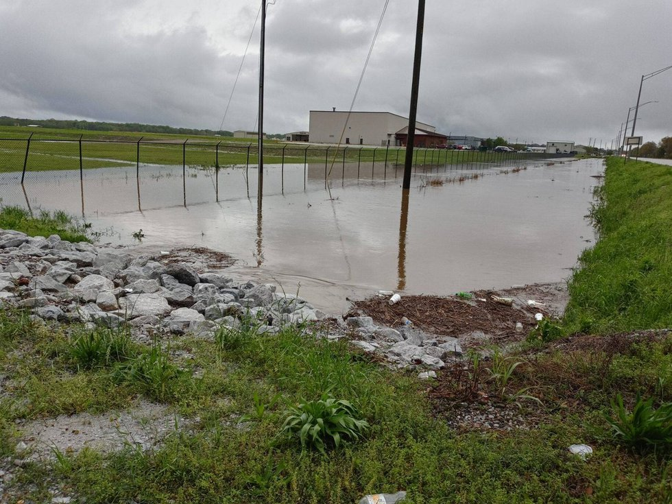 Localized flash flooding was reported in some spots around Meridian