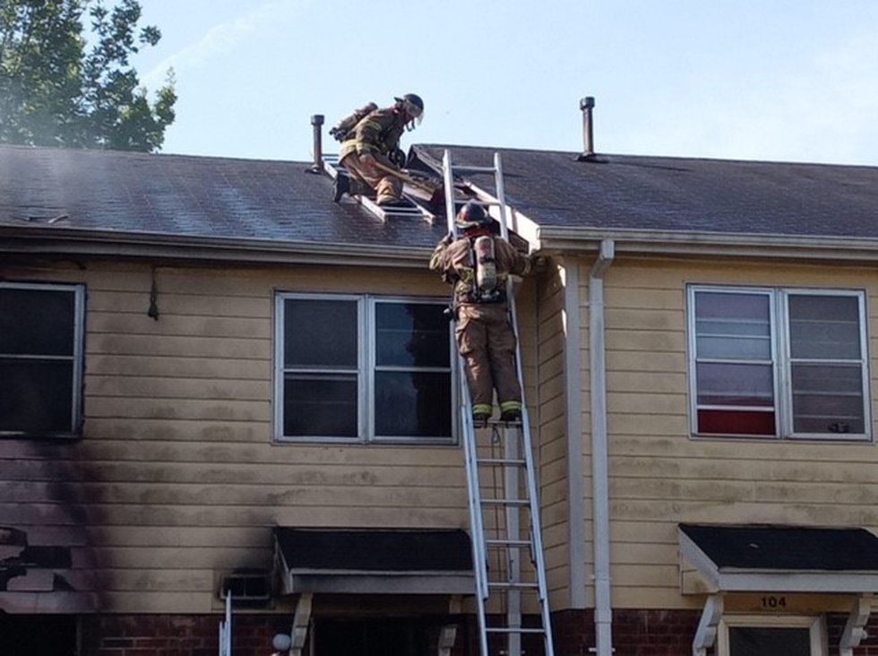 Firefighters are on the scene of a fire at Western Gardens Apartments
