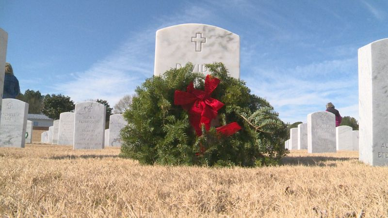 A patriotic ceremony was held at the Newton Veterans Memorial Cemetery where love ones remember...
