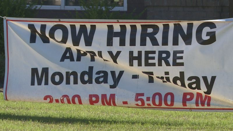 'Now Hiring' signs are posted all over Meridian.