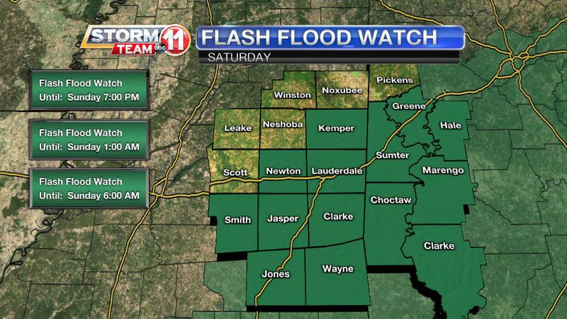 A Flash Flood Watch is in effect for today and tonight as a tropical disturbance tracks over...