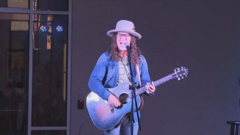 """Brandon Green performs his song """"Float"""" at the Mississippi Arts and Entertainment Experience in..."""