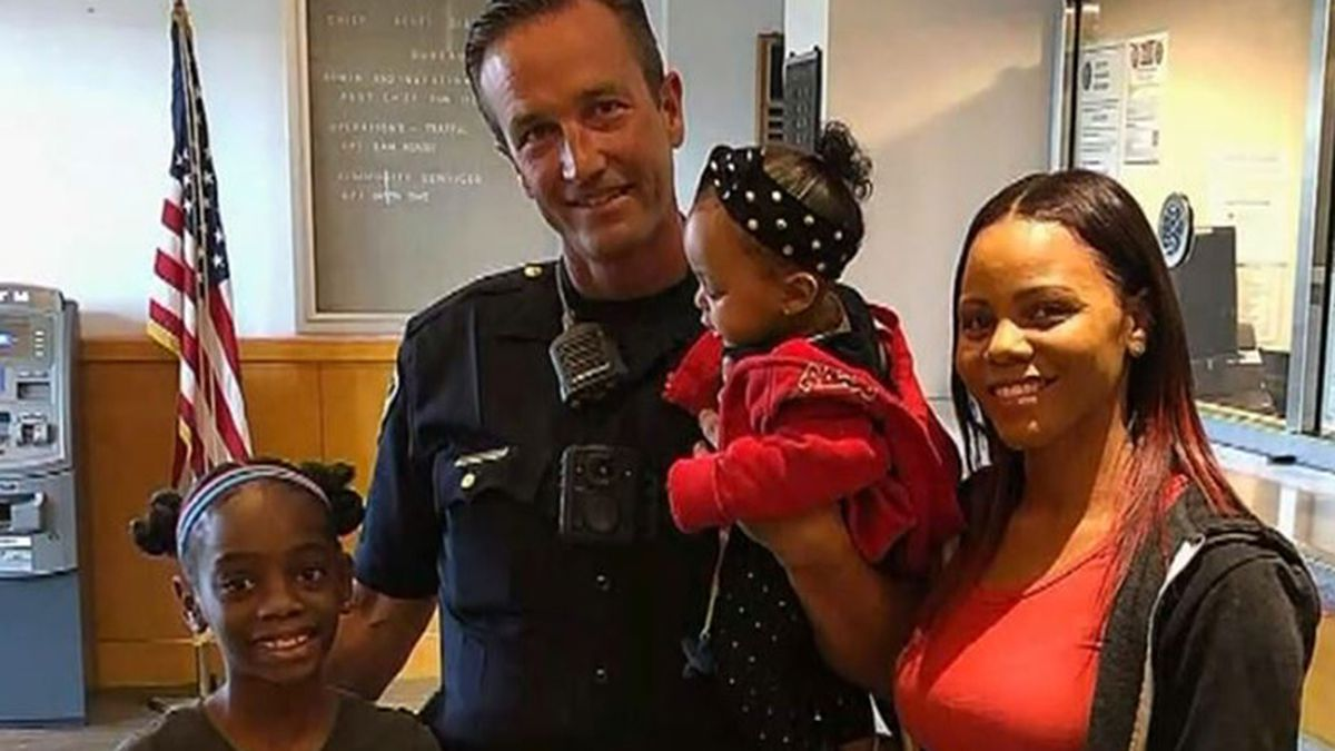 Brian Cappell, Harley and her family were again reunited at the Culver City city council meeting, where the officer was honored for his heroic actions. (Source: KCAL/KCBS/CNN)