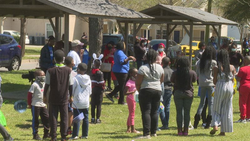Many kids had baskets and their best running shoes on for the Ward's fourth annual Easter Egg...