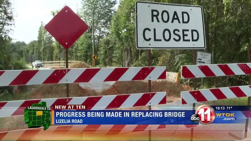Construction nears for bridge on Lizelia Rd.