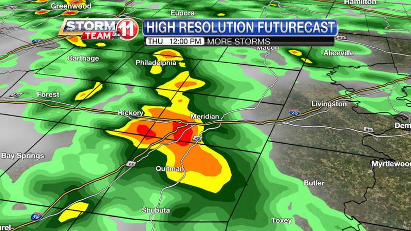 Another round of heavy storms is likely again on Thursday.