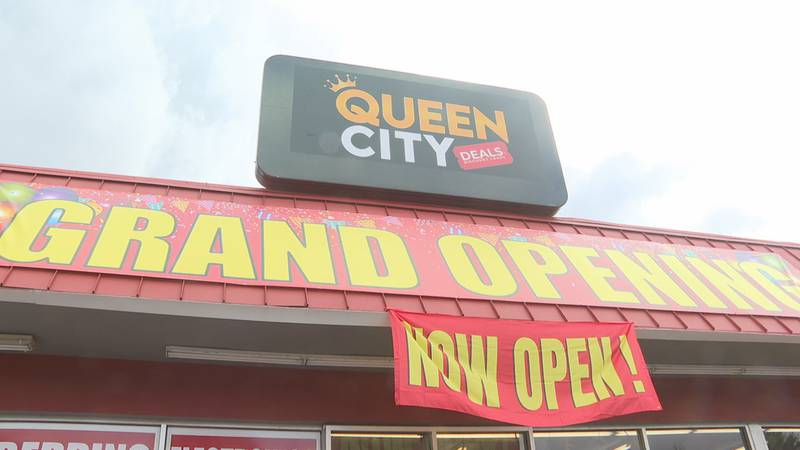 Queen City deals held its grand opening Friday but hundreds of people are still walking through...