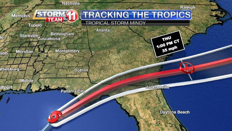 Tropical Storm Mindy formed in the Gulf of Mexico Wednesday afternoon.