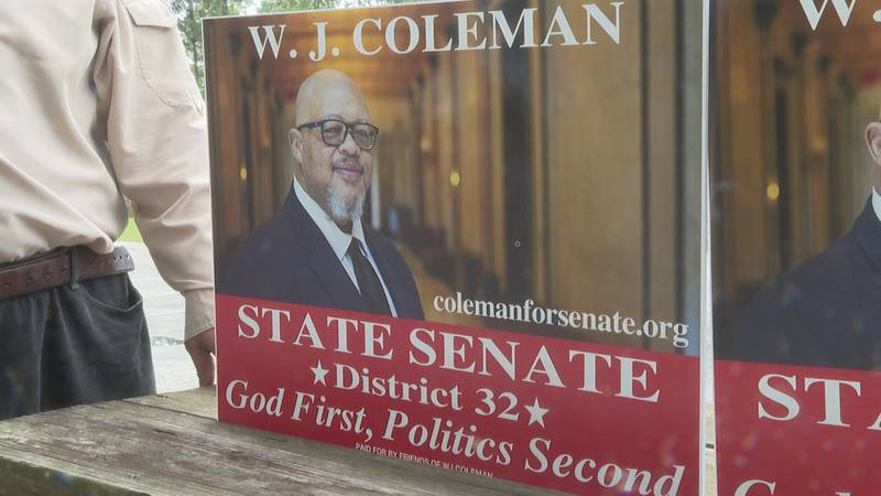 """""""God first, politics second"""" is W. J. Coleman's slogan as he runs for the District 32 seat."""
