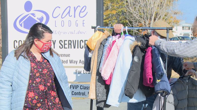 The Knights of Columbus in Meridian donated over 100 coats to the Care Lodge Domestic Violence...