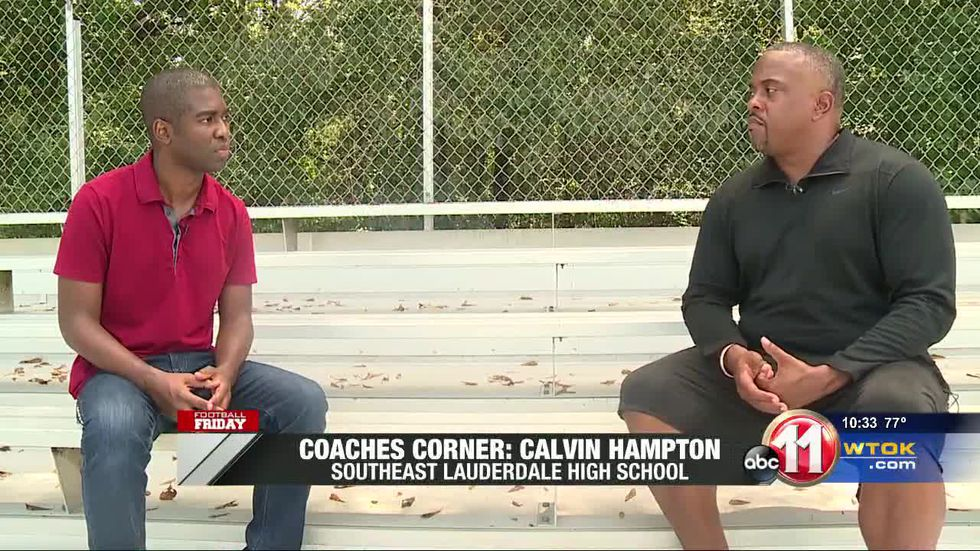 Coach Calvin Hampton spoke with our Travis Pettis in September for Coaches Corner.