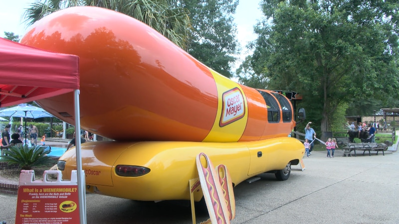 The famous Wienermobile spotted at the Hattiesburg Zoo.