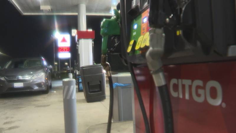Three suspects are being sought in Tuesday's gas station shootout.