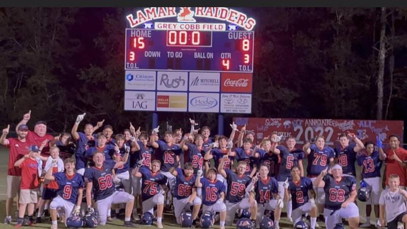 This week's Total Pain Care team of the week is the Lamar Junior High Raiders.