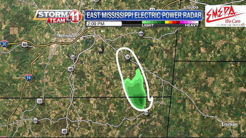 Radar picked up a smoke plume from a controlled burn in Clarke County.