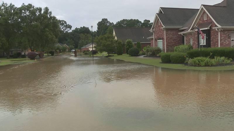 Flooding in Meridian neighborhoods