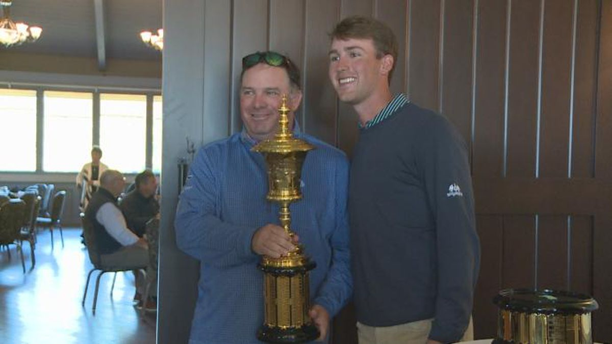 Andy Ogletree honored at Northwood Country Club in Meridian with the U.S. Amateur trophy...