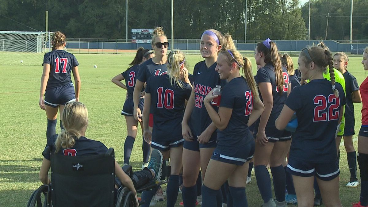 The Lamar girls soccer team defeated Bayou Academy 2-1 in overtime to advance on to the second round of the MAIS Division II playoffs