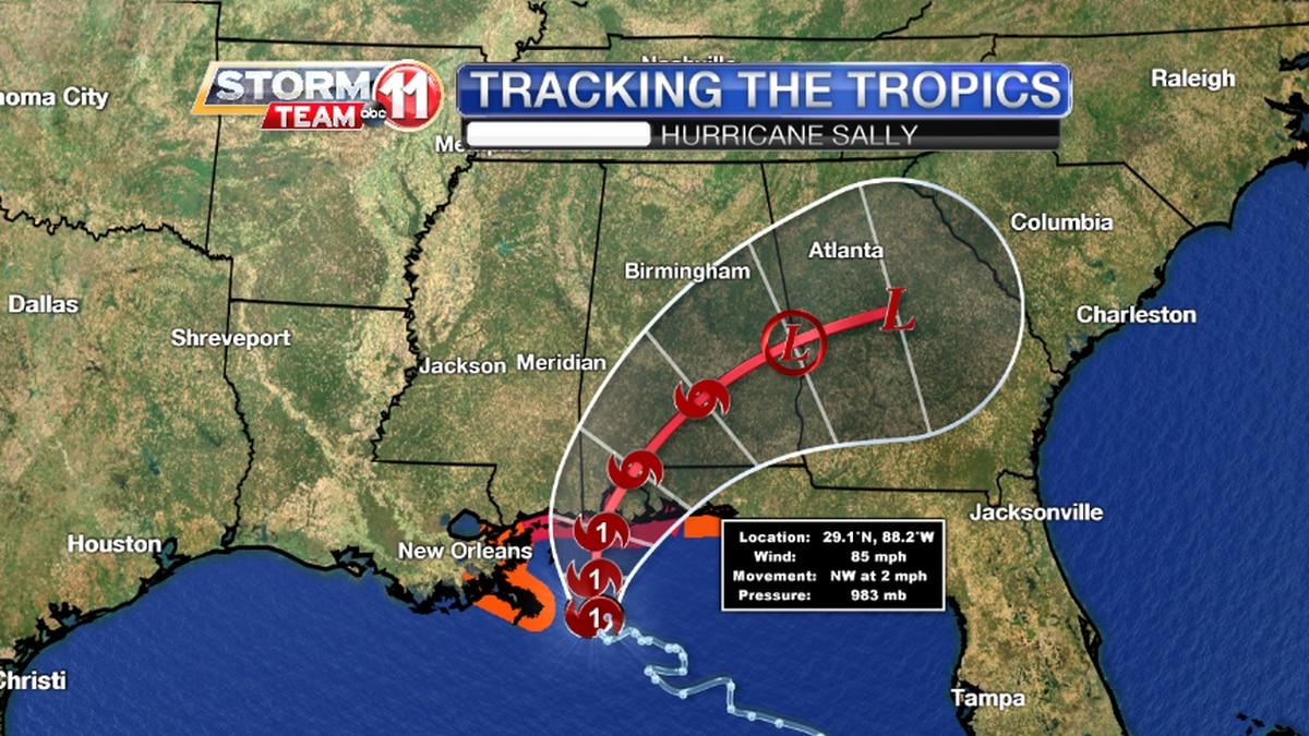 Hurricane Sally Track (10 a.m. Sep 15)