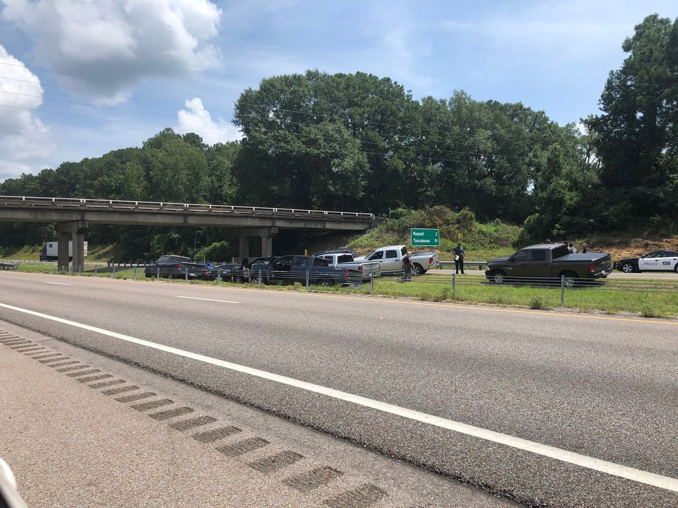 Officers took 41-year old Taniel Cole into custody after he crashed on Interstate 20/59 just...