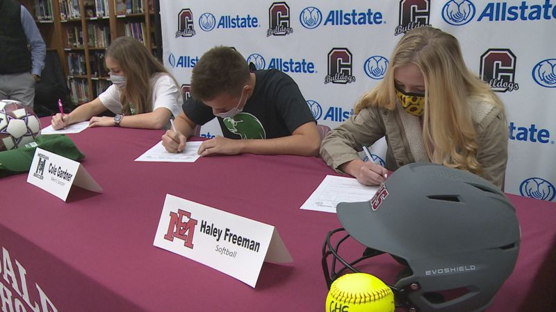 Clarkdale seniors Mary Ashley Culpepper (left), Cole Gardner (middle) and Haley Freeman (right)...